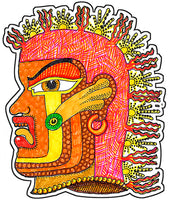 Pre-Columbian God 2 Sticker