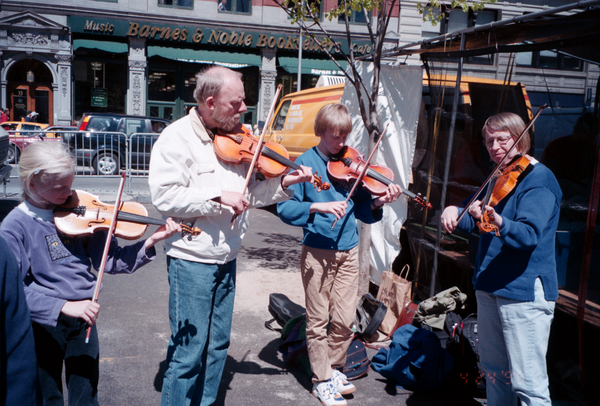 Family of Violin Musicians