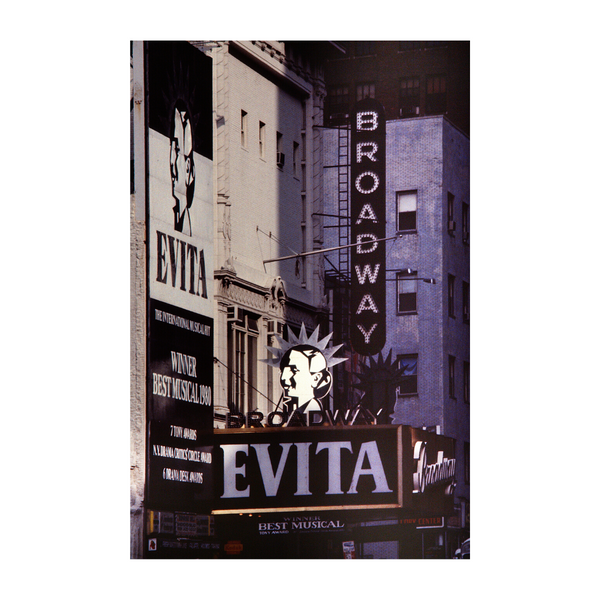 Vintage Evita on Broadway NYC