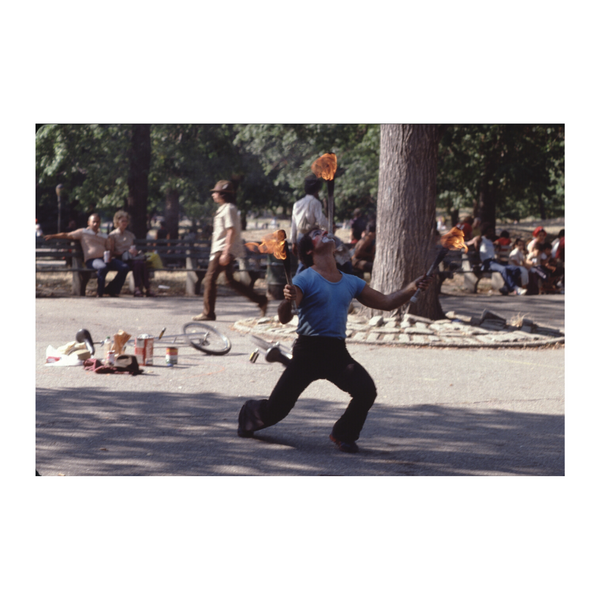 Flame Juggler Vintage Washington Square Park NYC