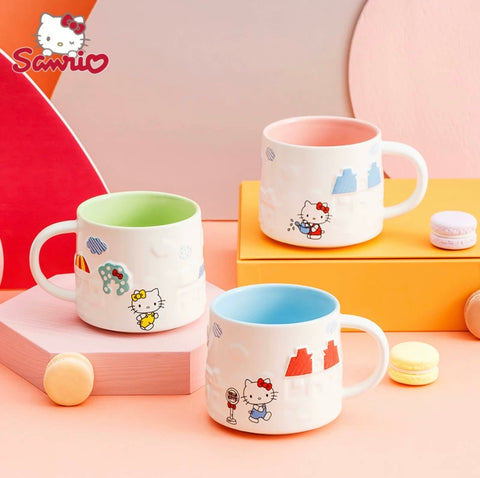 Hello Kitty 3D Office Mug Cute Ceramic Cup Large Capacity 350 ml - Hello Kitty Camp