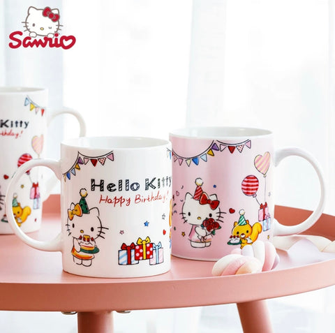 Hello Kitty Happy Birthday Mug Ceramic Cup Perfect Gift - Hello Kitty Camp