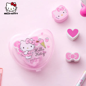 6 Pcs Hello Kitty Eraser Box School/Office Supplies Stationery - Hello Kitty Camp