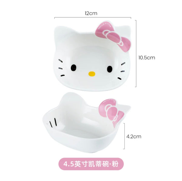 Hello Kitty Tableware Small Ceramic Cute Bowls Salad Sauce Container - Hello Kitty Camp