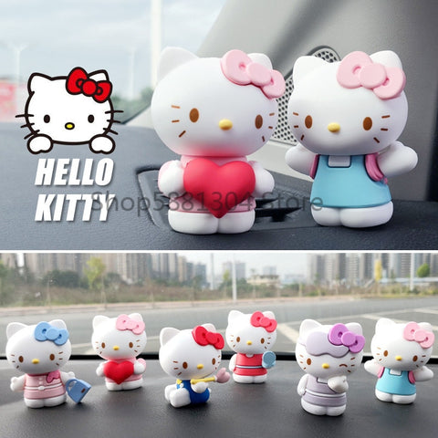 2.5 inch Hello Kitty Kawaii Dolls Anime PVC Model 6pcs/set Figures Car Decorations/Display Toys - Hello Kitty Camp