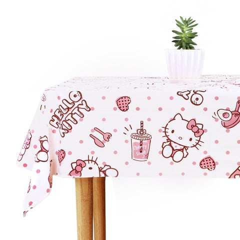 Hello Kitty Rectangle Pink Water Proof Table Cover Table Cloth Kitchen Products - Hello Kitty Camp
