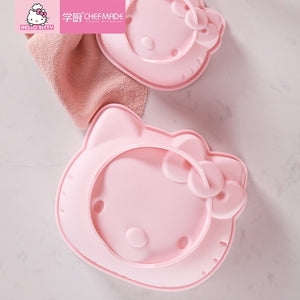 CHEFMADE Hello Kitty Kitchen 4 inch /6 inch Cake Silicone Mold Blister Pudding Hurricane Mousse Steamed Baking Fondant Moulds - Hello Kitty Camp