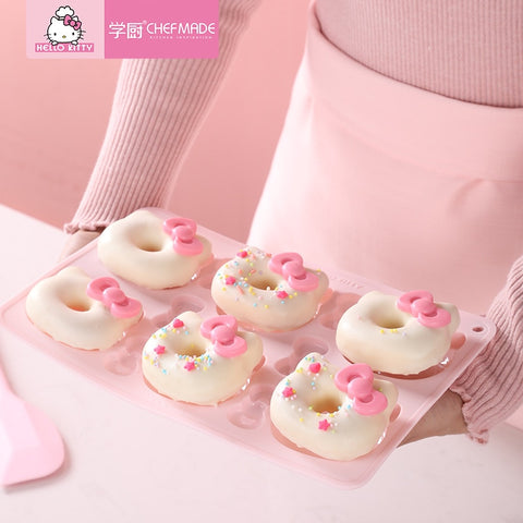 CHEFMADE Hello Kitty Kitchen Genuine Authorized Non-stick Cartoon Donut Cake Cookies 3D Silicone Mold Cake Tools - Hello Kitty Camp