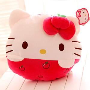 Cute 12 inch Hello Kitty Fruit Plush Toy Hand Warmer/ Holder Pillow/Cushion - Hello Kitty Camp