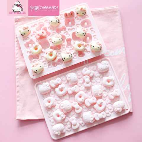 CHEFMADE Hello Kitty Chocolate Ice Jelly Pudding Silicone Mold Baking Tools Kitchen Baking Accessories - Hello Kitty Camp