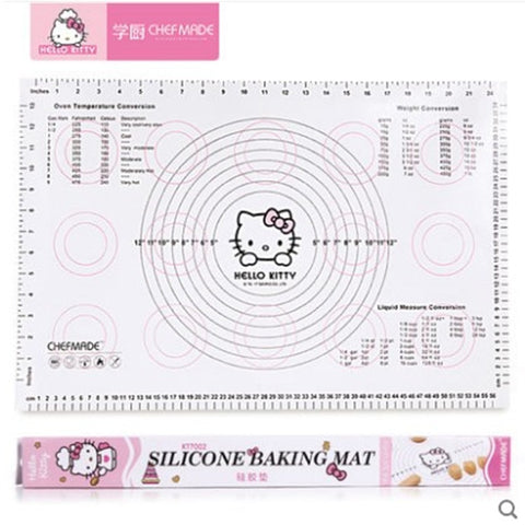 CHEFMADE Hello Kitty Baking Silicone Mat Non-slip Pastry Boards Biscuit Moon Cake Kneading Pad Board Baking Tools - Hello Kitty Camp