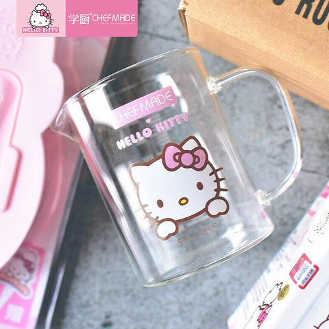 CHEFMADE Hello Kitty Thick Glass Measuring Cup High Temperature Resistant Measuring Cups With Scale And Handle Home Baking Tools - Hello Kitty Camp