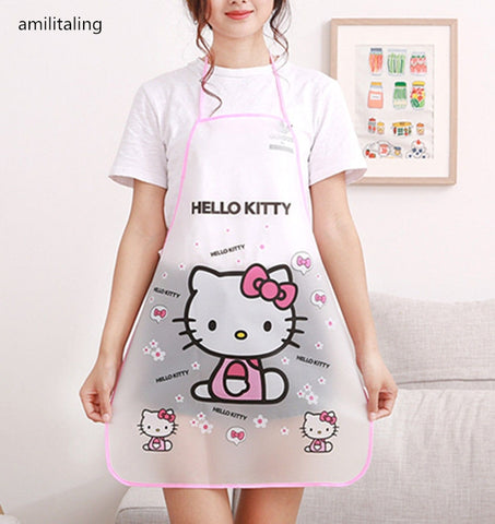 Cute Hello Kitty Waterproof Apron Kitchen Cooking Apron Vest Protector - Hello Kitty Camp