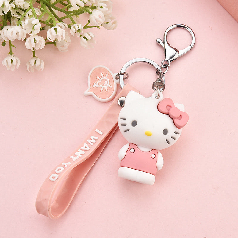 Sanrio Hello Kitty Silicone Case Key Chain - Hello Kitty Camp