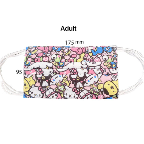 Hello Kitty Three Layers Disposable Protective Adult Face Mask Non-Medical Masks 1 pcs Individual Bag - Hello Kitty Camp