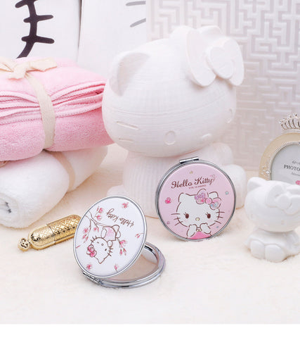 Hello Kitty Portable Compact Makeup Cosmetic Mirror - Hello Kitty Camp