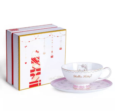 Hello Kitty Luxury Tea Cup Coffee Cup 300 ml Christmas Gift - Hello Kitty Camp