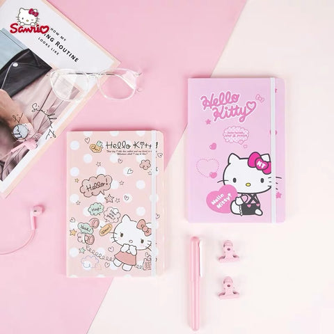 Hello Kitty 25K Planner Diary Notebook 80 Sheets School/Office Supplies Stationery - Hello Kitty Camp