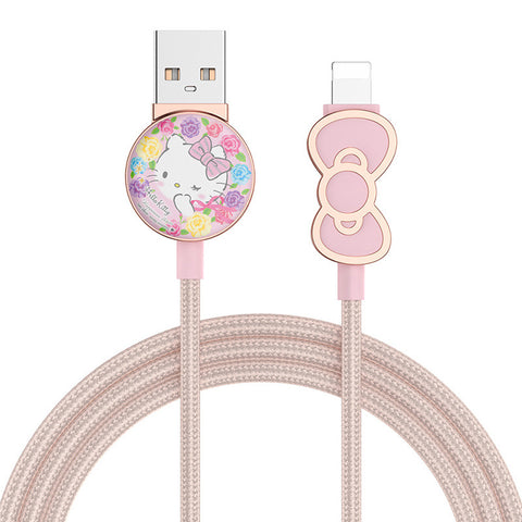 Hello Kitty iPhone iPad iPod Charger Cable 1.2 Meters 4 ft Phone Charger - Hello Kitty Camp