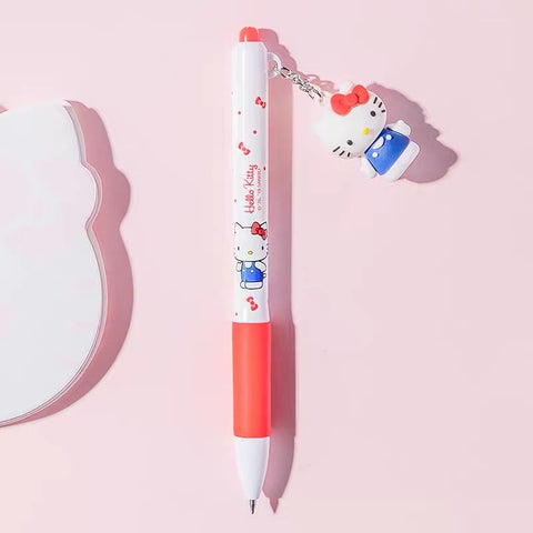 Hello Kitty Cute Black Gel Pen 0.5 mm Office Supplies Stationery - Hello Kitty Camp