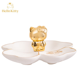 "Hello Kitty Jewelry Storage Ceramic Tray 5"" - Hello Kitty Camp"
