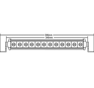 "Speed Demon Lights: 14"" Single Row Light Bar - SRS14"