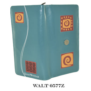 WALT 0577Z - AZTEC SQUARE ( LARGE/TEAL COLOR/WITH ZIPPER )