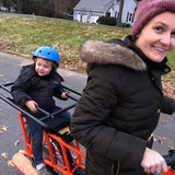 First ride on new cargo bike.