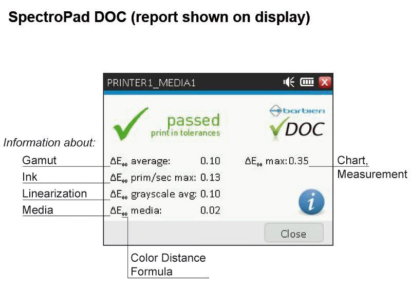 Spectropad DOC Software