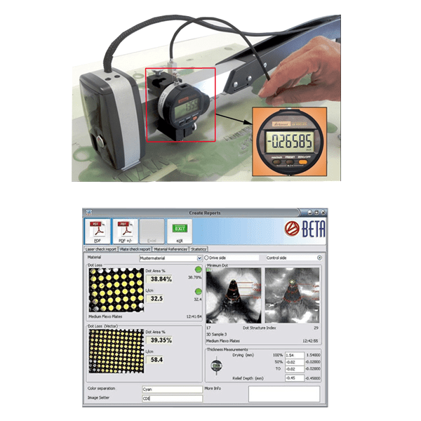 Beta Industries FlexiGage Micrometer & Software