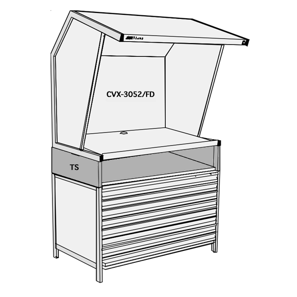 GTI CVX-3052 8 Flat File Set Light Booth
