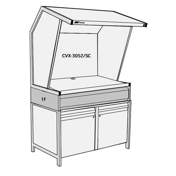 GTI CVX-3052 Storage Cabinet Light Booth