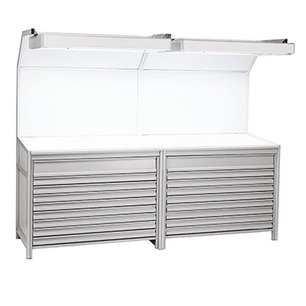 GTI EVS-30106 8 Flat File Set Light Booth