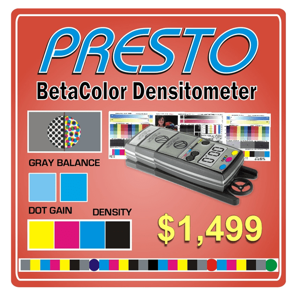 Beta Industries Betacolor Presto Densitometer