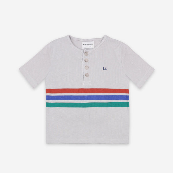 Stripes Buttoned T-Shirt