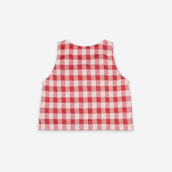 Vichy Buttoned Top