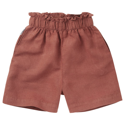 Linen Paper Bag Short Sienna Rose