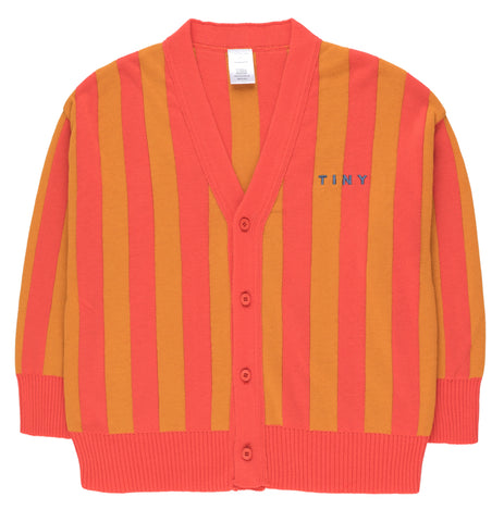Stripes Cardigan red/brick
