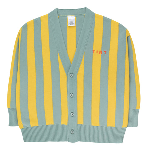 Stripes Cardigan green/yellow
