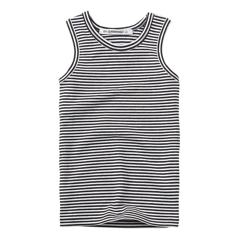 Singlet Black/White Stripes