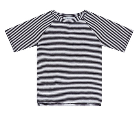 T-Shirt Black/White Stripes