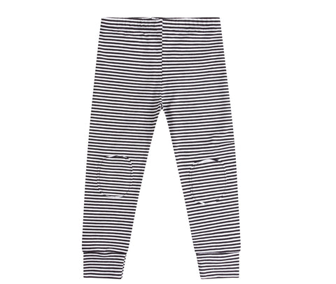 Leggings black/white Stripes