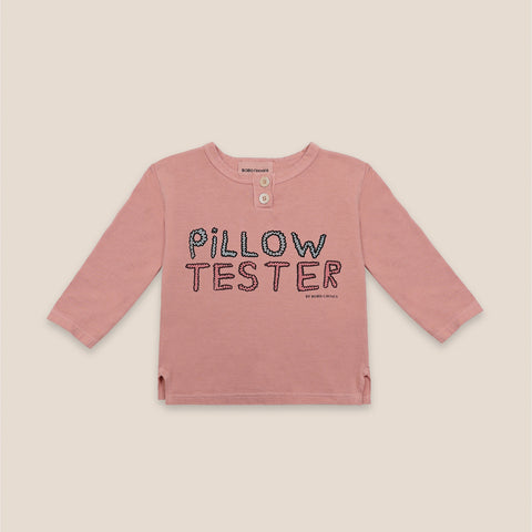 Pillow Tester Buttoned T-Shirt