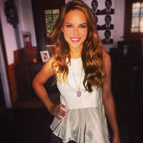 Chrishell Stause in our Harper Necklace!