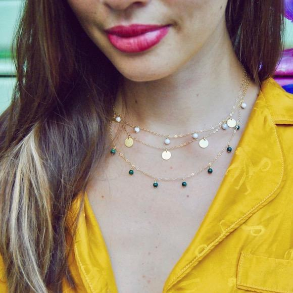 SUKI STATEMENT COIN NECKLACE GOLD - eff.Y.bee