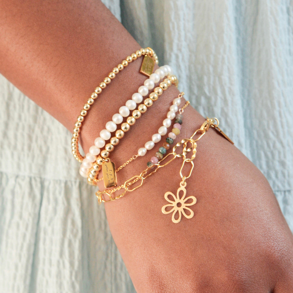 MINI GOLD STAPLE BRACELET
