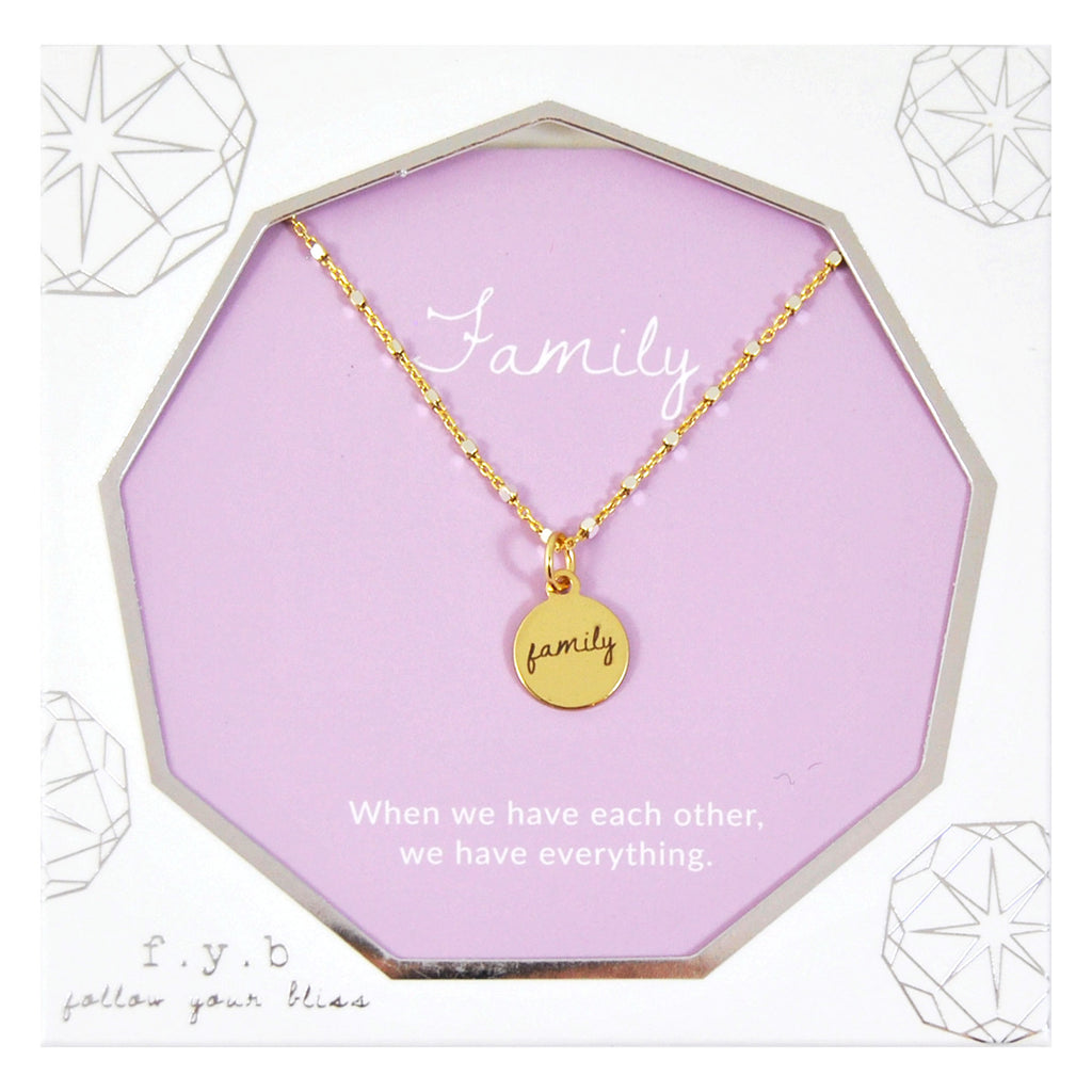 SHIMMER CHARM NECKLACE FAMILY - eff.Y.bee