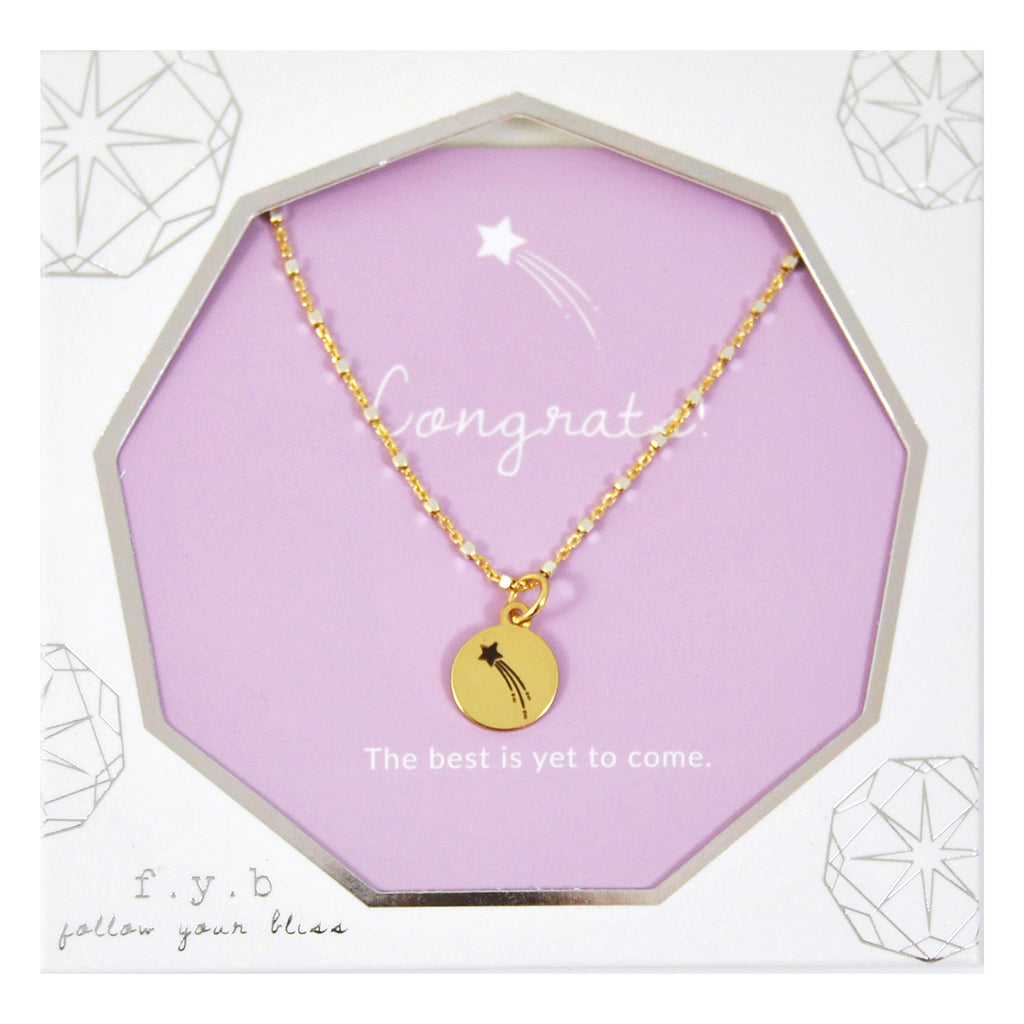 SHIMMER CHARM NECKLACE CONGRATS - eff.Y.bee
