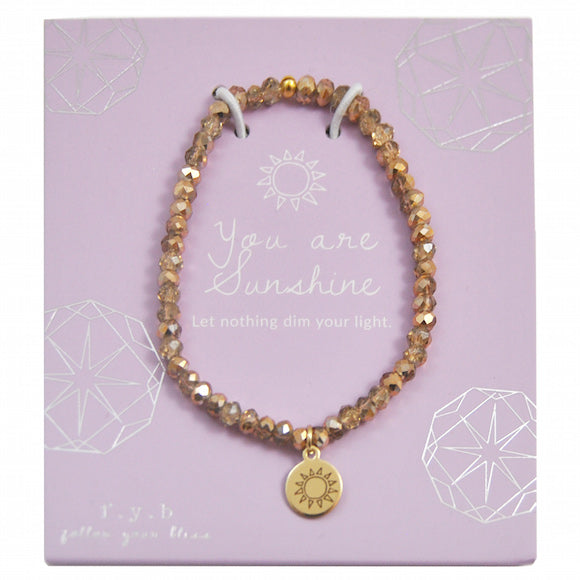 MINI CRYSTAL GOLD YOU ARE SUNSHINE - eff.Y.bee