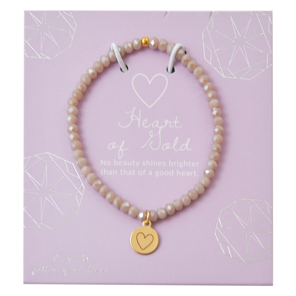 MINI CRYSTAL MYSTIC TAUPE HEART OF GOLD